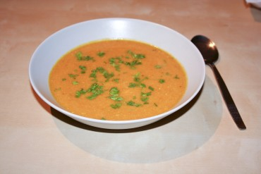 Butternußkürbis Suppe mit Curry